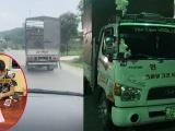 Tước GPLX 2 tháng với tài xế xe tải chèn ép xe cứu thương suốt 10 km