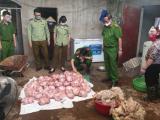 Thái Nguyên: Phát hiện hơn 3 tấn thịt gà bốc mùi, chuẩn bị được bán ra thị trường