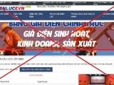 Cảnh báo trang web giả mạo thương hiệu EVN