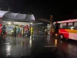 Giám đốc Công an tỉnh Hà Tĩnh kiểm tra các chốt chống dịch Covid-19 trong mưa bão