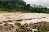 4 bản làng ở Thanh Hóa bị cô lập trong nước lũ