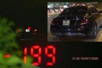 Tài xế Mercedes phóng 199km/h trên cao tốc bị tước GPLX 3 tháng