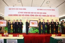 Phát hành bộ tem đặc biệt chào mừng Đại hội Đảng lần thứ XIII