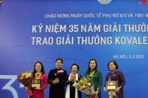 Nữ giảng viên Trường ĐH Y Hà Nội đạt giải thưởng Kovalevskaia năm 2020