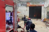 TP.HCM: Phim trường trên đường Nguyễn Văn Quá bốc cháy dữ dội