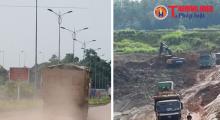 Phú Thọ: Thi công dự án gây ô nhiễm môi trường và mất ATGT
