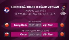 AFC điều chỉnh giờ thi đấu trận ĐT Trung Quốc gặp ĐT Việt Nam