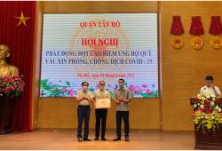 CIPUTRA HANOI tích cực đóng góp ủng hộ công tác phòng chống dịch Covid-19