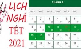 Chính thức trình Thủ tướng phương án nghỉ Tết Tân Sửu 7 ngày