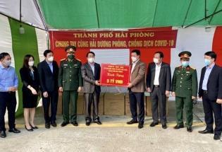 Hải Phòng hỗ trợ 13 tỷ đồng cho 11 tỉnh, thành phố phòng chống dịch