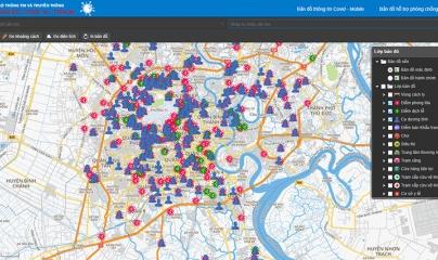 TPHCM: Ra mắt bản đồ hỗ trợ phòng chống dịch COVID-19