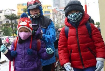 Hà Nội yêu cầu không tổ chức hoạt động tập trung học sinh ngoài trời rét