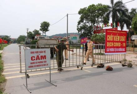 Từ 6h ngày 18/5, giãn cách xã hội thành phố Bắc Ninh và huyện Quế Võ