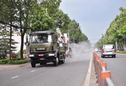 TP.HCM: Phun khử khuẩn toàn thành phố từ hôm nay (23/7)